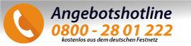 Kostenlose Angebotshotline - 0800 28 01 222