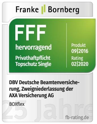 Franke und Bornberg BOXflex PHV Single FFF hervorragend