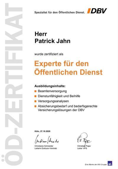 Patrick Jahn - DBV - Experte für den Öffentlichen Dienst
